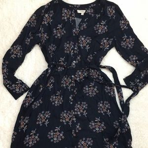 Loft floral button down dress sz XLT